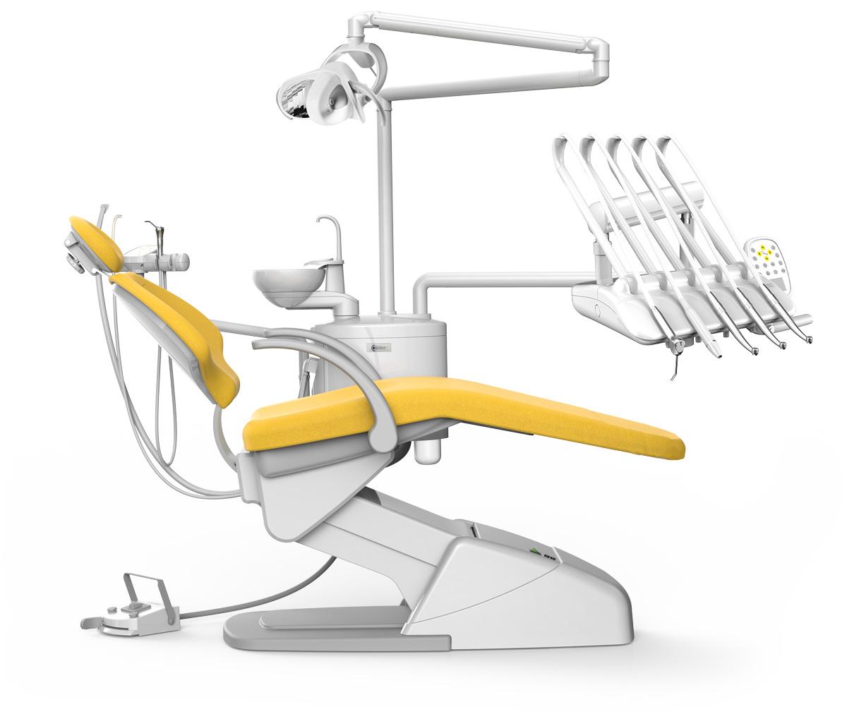 Ritter Ultimate - стоматологическая установка с верхней подачей инструментов, купить в GREEN DENT, акции и специальные цены.